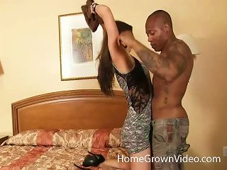 Hot Slut In A Hotel Room With A Black Guy And His Big Dick