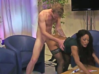Danny D Pops Out His Meat Stick To Fuck African Kiki Minaj With Giant Jugs In The Bum Hole